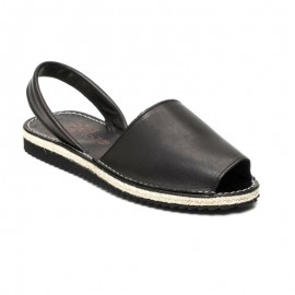 Black jute man sandals