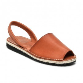 Man's jute leather sandals