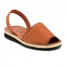 Woman's jute leather sandals