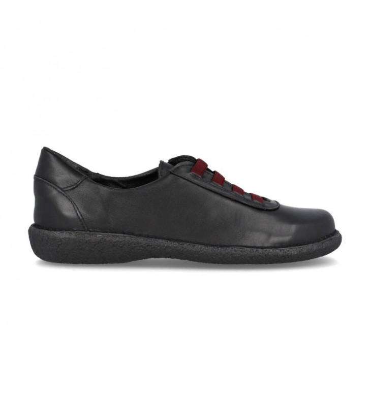 Women's flat leather outlet shoes