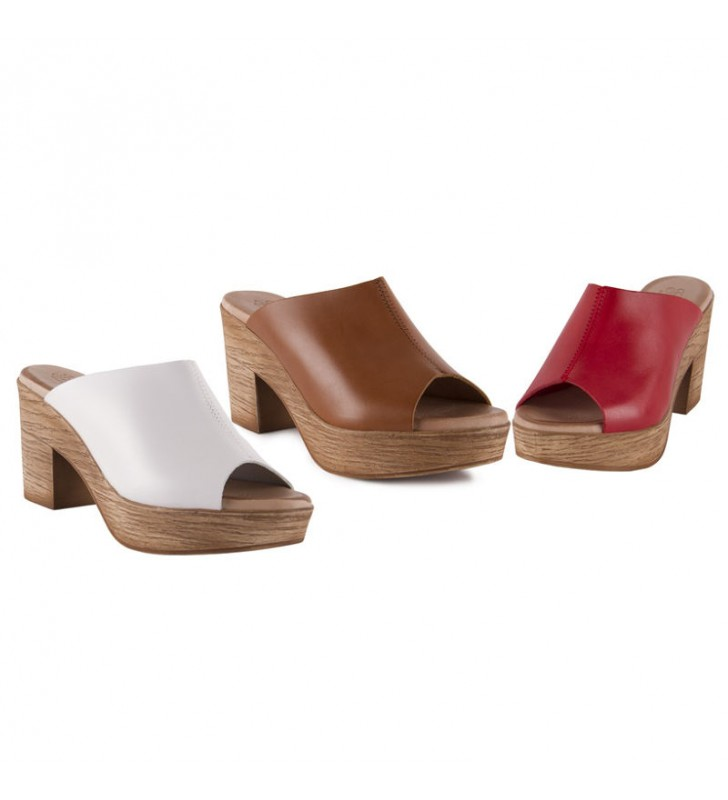 Wooden woman clogs