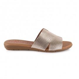 Sandalias mujer metalizadas 1