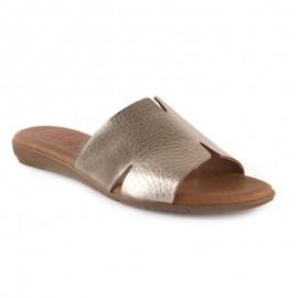 Sandalias mujer metalizadas