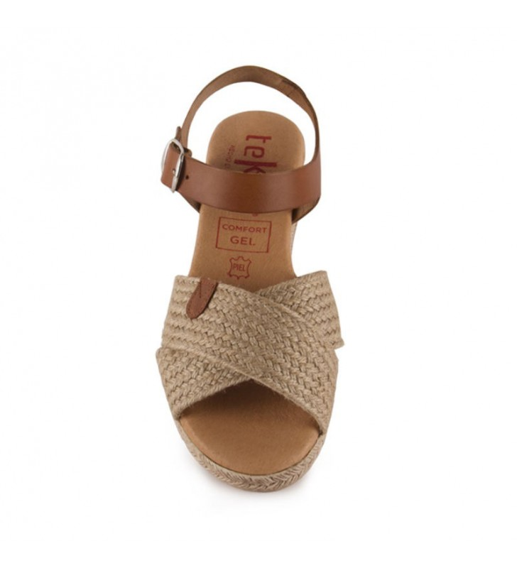Jute leather and gel sandal 1