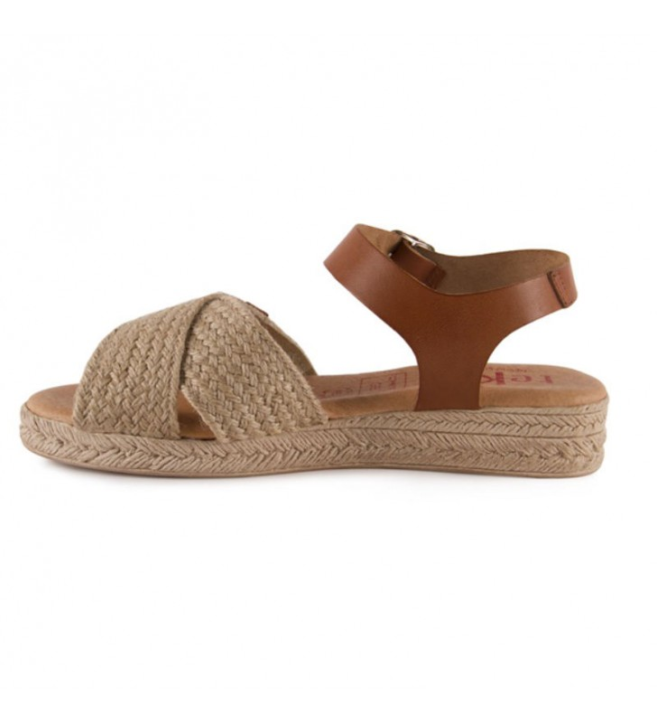Jute leather and gel sandal 2