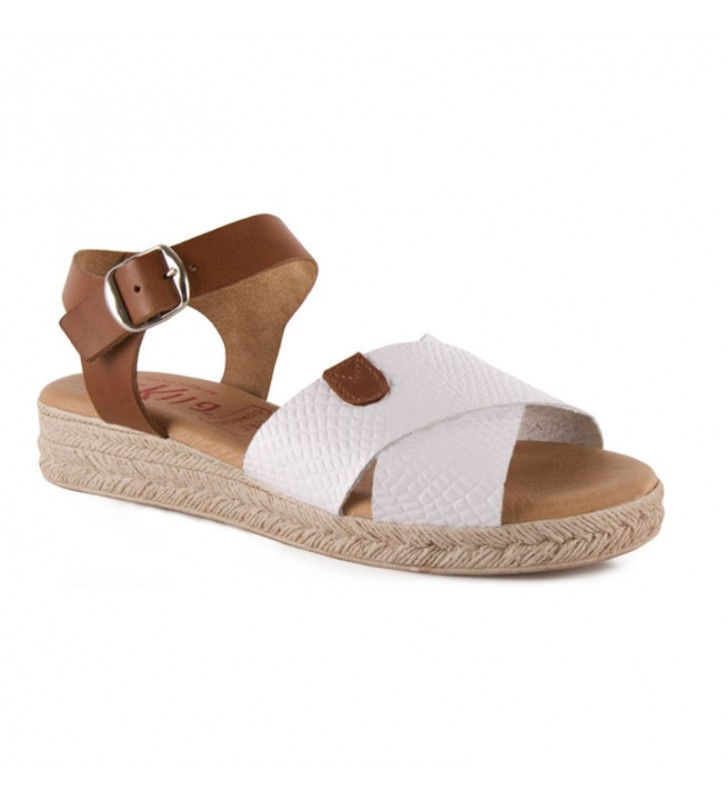 Woman leather and gel sandals 1