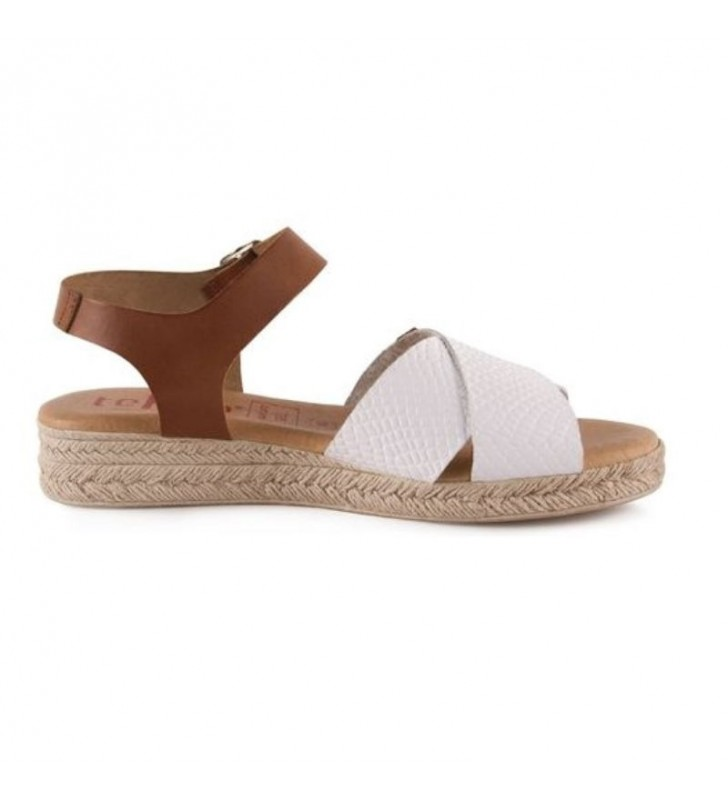Woman leather and gel sandals 2