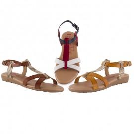Sandalias mujer planas planta gel