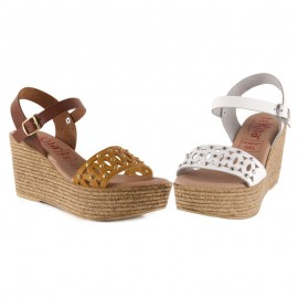 Comfortable high wedge sandal