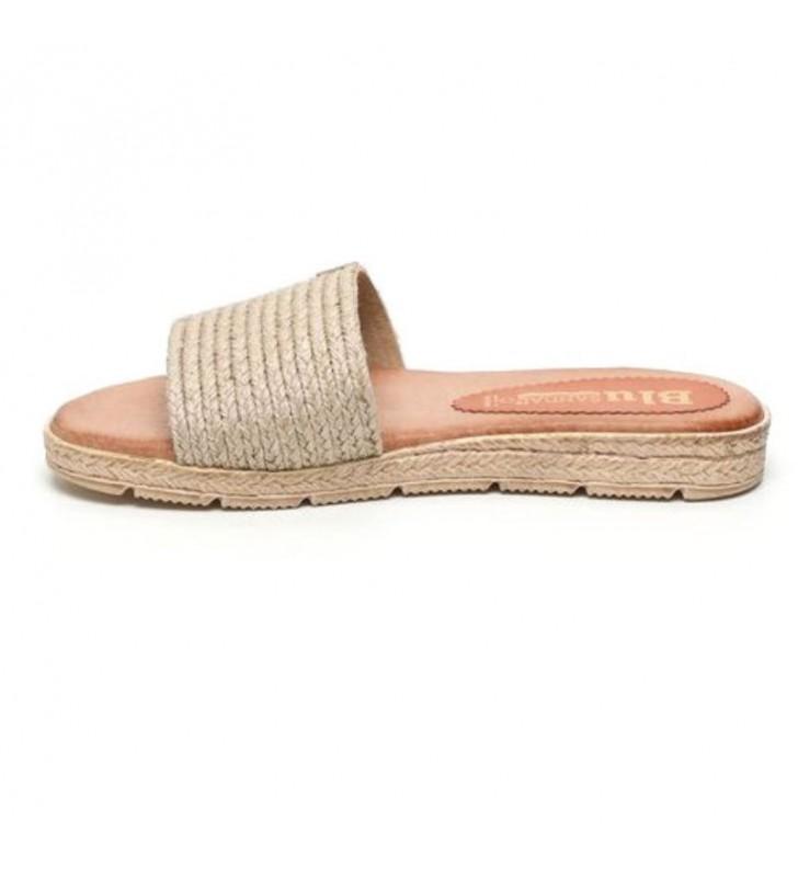 Gel plant mule sandals