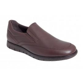 Zapatos hombre cómodos piel marrón 1