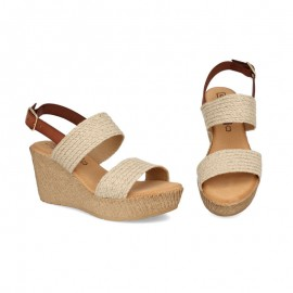 Jute platform and wedge sandals