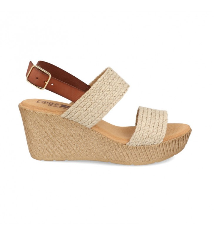Jute platform and wedge sandals 1