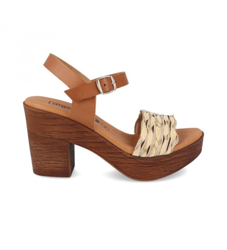 Comfort heel woman sandal 1
