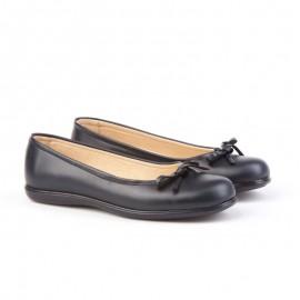 Navy collegiate ballerinas shoes