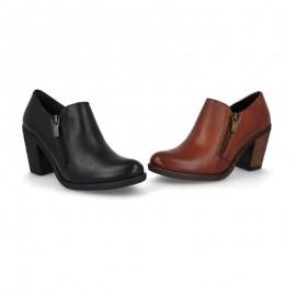 Zapatos mujer tacón piel