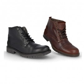 Men's casual leather ankle boots