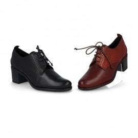 Zapatos mujer cordones tacón
