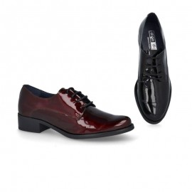 Zapatos mujer charol cordones