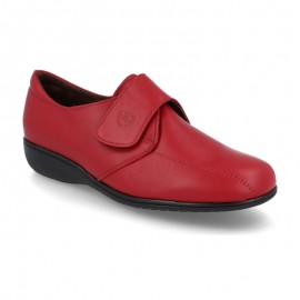 Red velcro comfort shoes