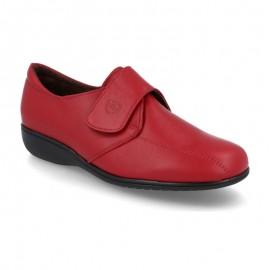 Zapatos confort velcro rojo