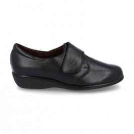 Zapatos cómodos velcro negro