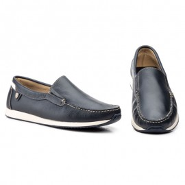 Men's comfort navy loafers