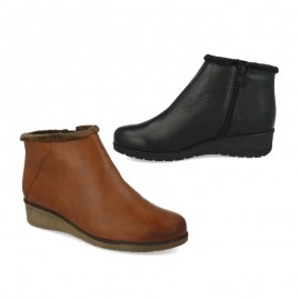 Women's comfort shearling ankle boots