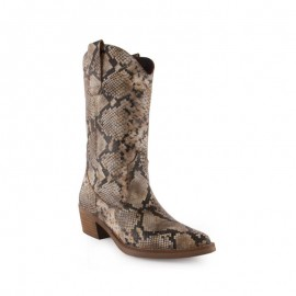 Snake Skin Woman Boots