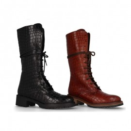 Women's leather lace-up boots