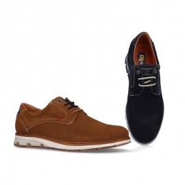 Zapatos casual hombre piel serraje