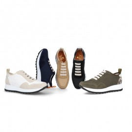 Women's casual leather sneakers