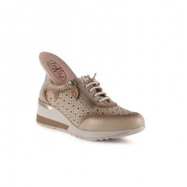 Zapatillas urbanas mujer piel