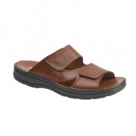 Men's wide leather sandals