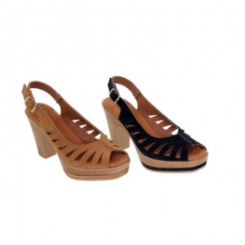Comfortable platform and heel sandals