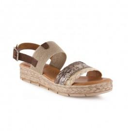 Gel plant wedge sandals