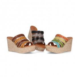 Women's high wedge sandals