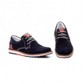 Zapatos casual hombre piel marino