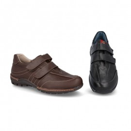 Velcro leather urban shoes