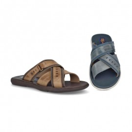 Gentleman gel leather sandals