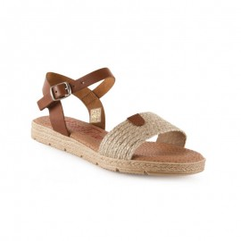 Gel plant flat sandals for women