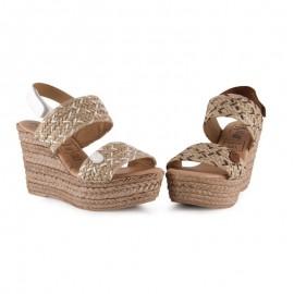 Jute platform wedge sandals