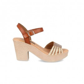 Platform high-heeled sandals