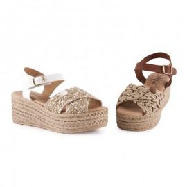 Jute comfort platform sandals