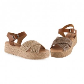 Women's raffia sandals