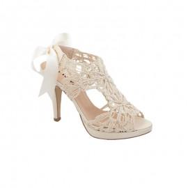 Zapato mujer fiesta crudo