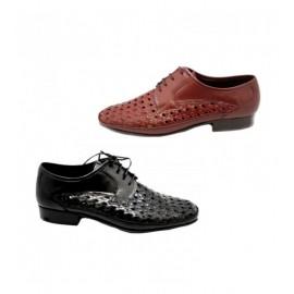 Shoe man dress braided leather