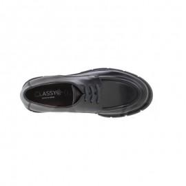 Zapatos mujer piel cordones