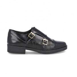 Zapatos mujer hebillas piel