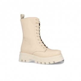 Gel plant military ankle boots